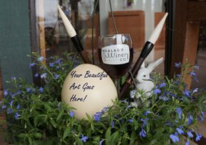 Paint, dye, and embellish your ostrich egg while you sip some locally made wine.  We'll provide the egg, a glass of wine, decorating materials and instruction.  Hop on down and enjoy this festive way to prepare for Easter!