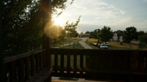 view from deck--watch the sunset!