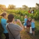 family pictures in vineyard